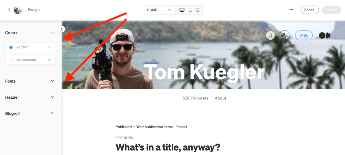 7th Article Image For What's Medium.com - Design Your Profile
