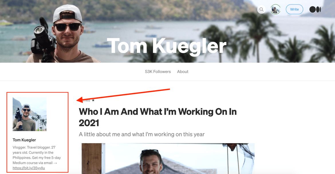 9th Article Image For What's Medium.com - Writer Biography