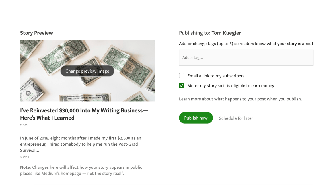 14th Article Image For What's Medium.com - How To Add Tags To Your Medium Story